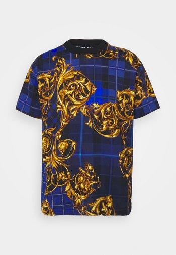 Print T-shirt - blu royal/oro