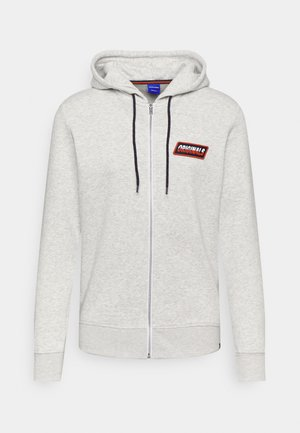 JORSWIRL ZIP HOOD - Zip-up sweatshirt - white melange