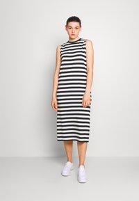 Even&Odd - Vestito di maglina - black/white - 0