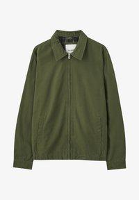 PULL&BEAR - JACKE MIT STRUKTURMUSTER UND REISSVERSCHLUSS 05713533 - Summer jacket - khaki - 6