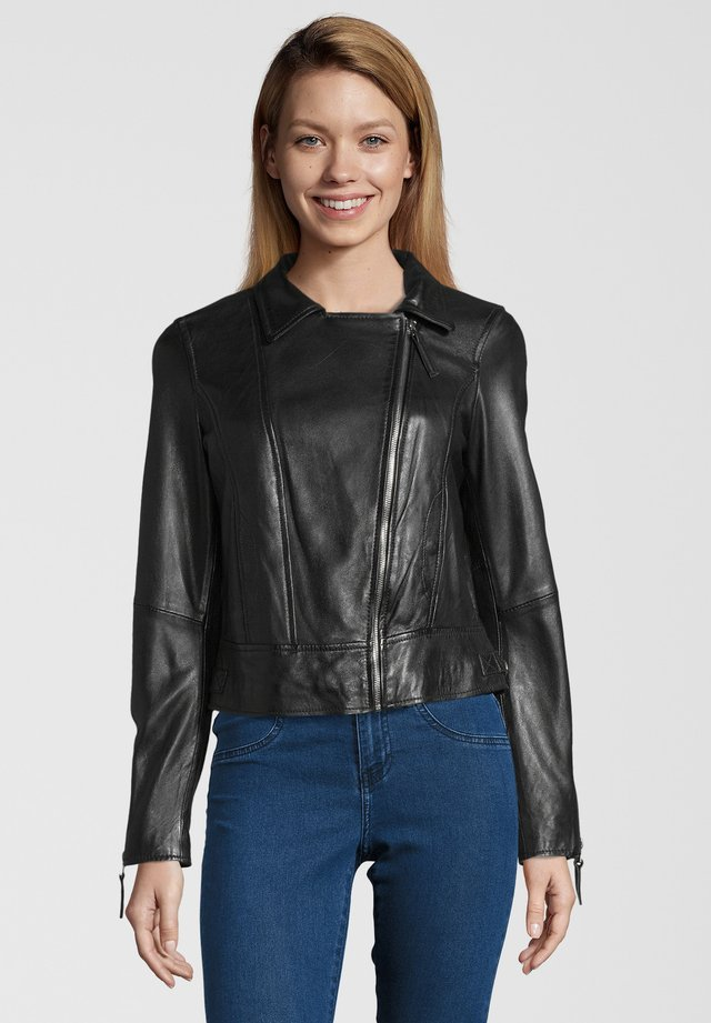 CHILLY GIRL - Veste en cuir - black