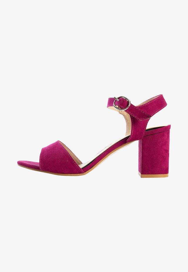 Sandalen met hoge hak - purple