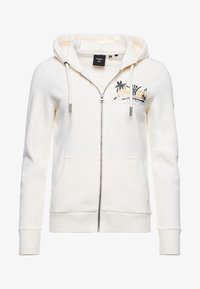 Superdry - Zip-up sweatshirt - cream - 3