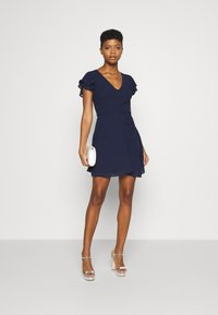 Nly by Nelly - DOUBLE FLOUNCE SLEEVE DRESS - Cocktail dress / Party dress - navy - 1