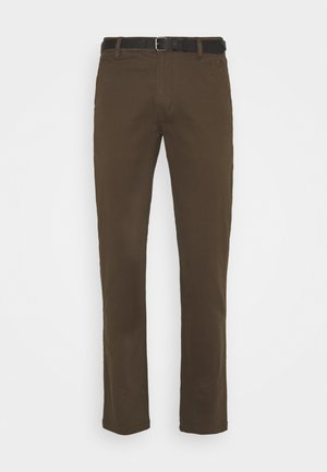 CLASSIC WITH BELT - Pantalones chinos - brown