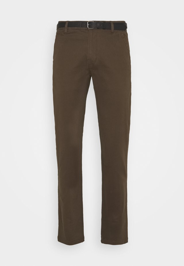 CLASSIC WITH BELT - Chino - brown