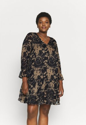 VMADANA ABOVE DRESS - Day dress - fossil/navy blazer