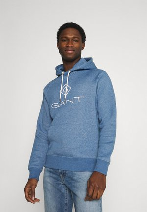 LOCK UP HOODIE - Jersey con capucha - denim blue