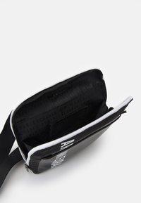 Armani Exchange - MIX CONTRAST CROSS BODY BAG UNISEX - Across body bag - black/white - 2