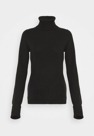 ROLLNECK - Strikkegenser - black tea