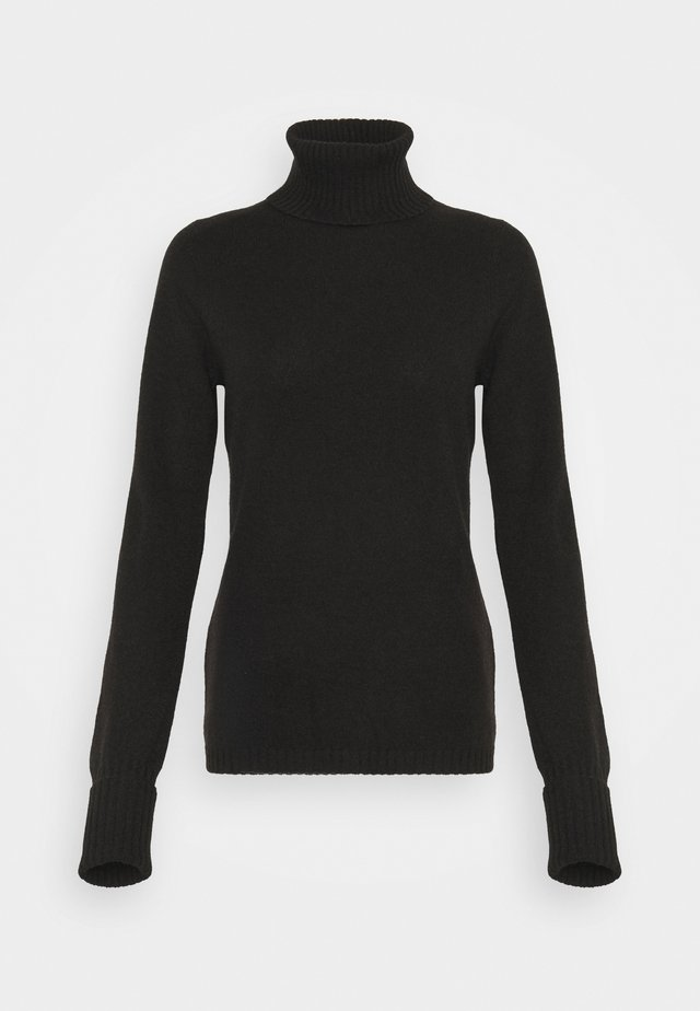 ROLLNECK - Pullover - black tea
