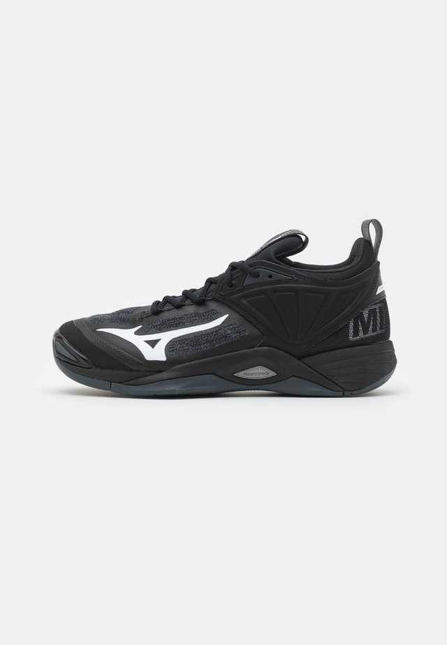 WAVE MOMENTUM 2 - Handball shoes - black/white/ebony