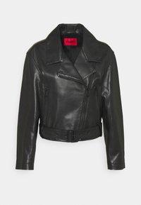 LAFERI - Leather jacket - black