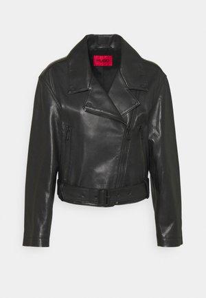 LAFERI - Kožená bunda - black