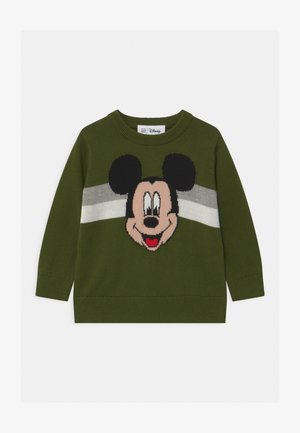 TODDLER BOY DISNEY MICKEY - Stickad tröja - chive