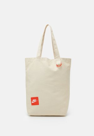 HERITAGE UNISEX - Tote bag - natural/team orange/white