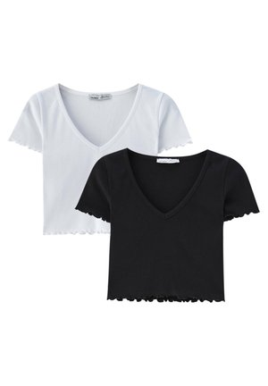 2PACK - Basic T-shirt - white