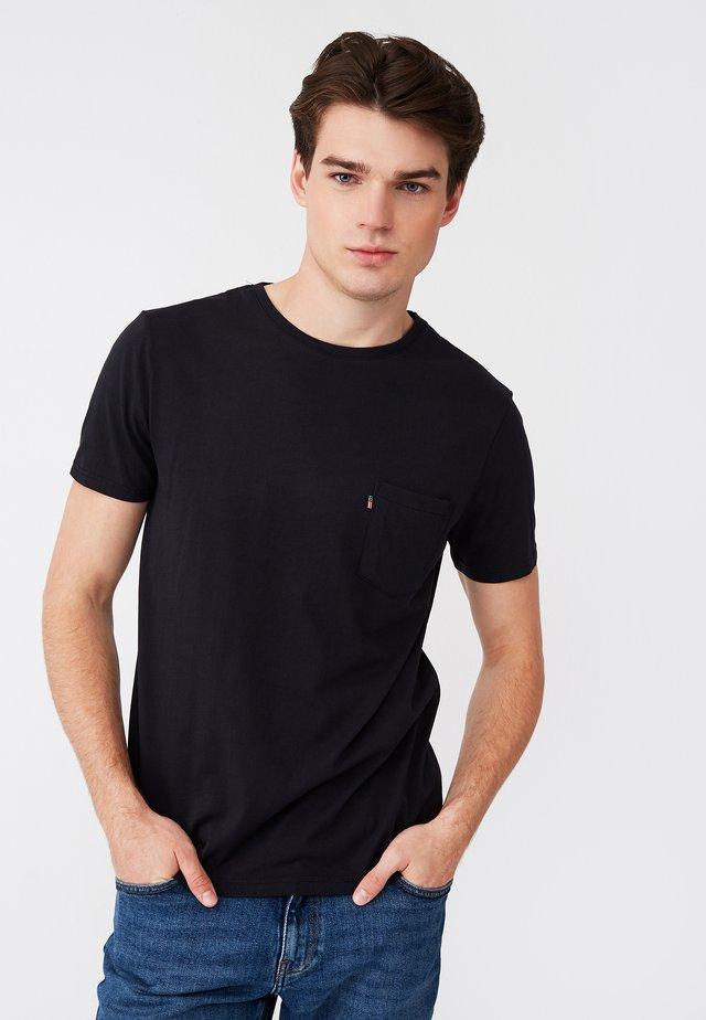 TRAVIS - T-shirt basique - black