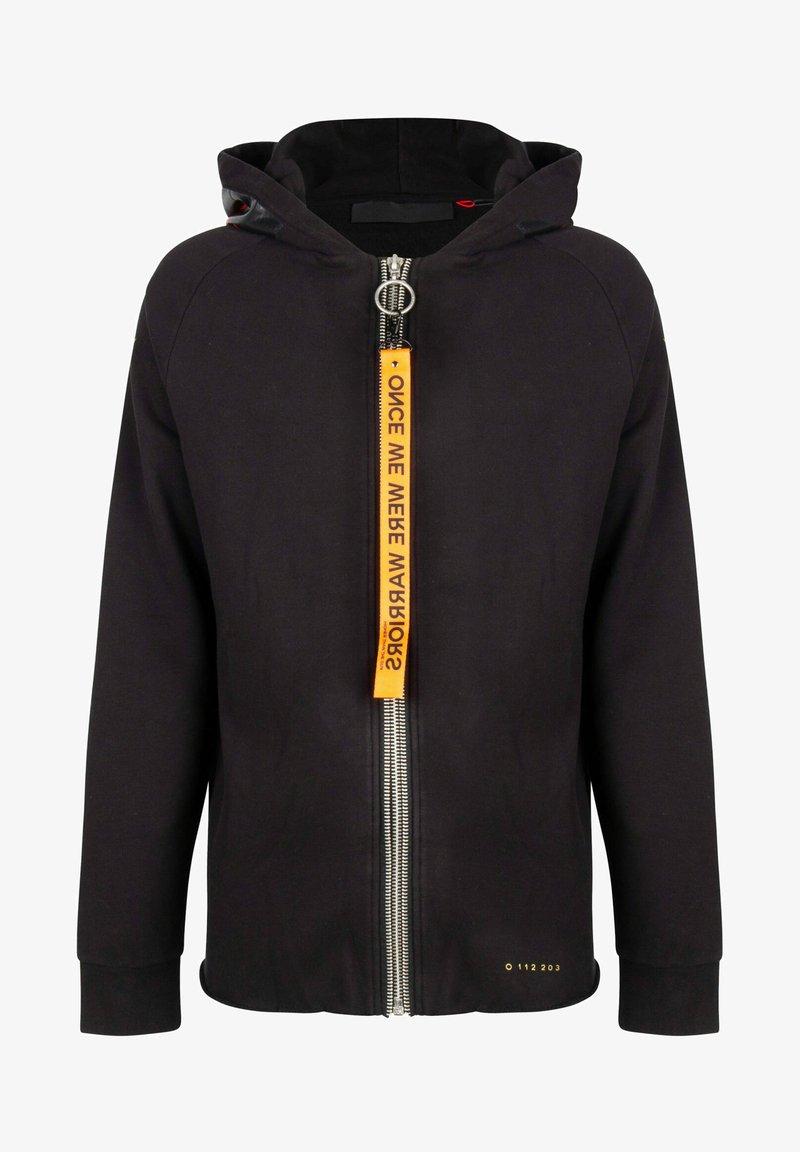 ONCE WE WERE WARRIORS - Zip-up sweatshirt - schwarz