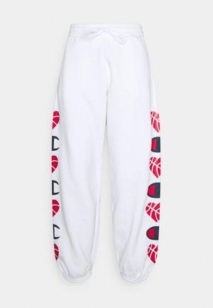 LOVE ELASTIC CUFF PANTS - Teplákové kalhoty - white