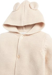Next - OATMEAL HOODED EAR CARDIGAN (0MTHS-3YRS) - Vest - off-white - 2
