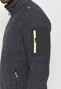 CMP - MAN JACKET - Fleece jacket - antracite/grey/yellow fluo - 5