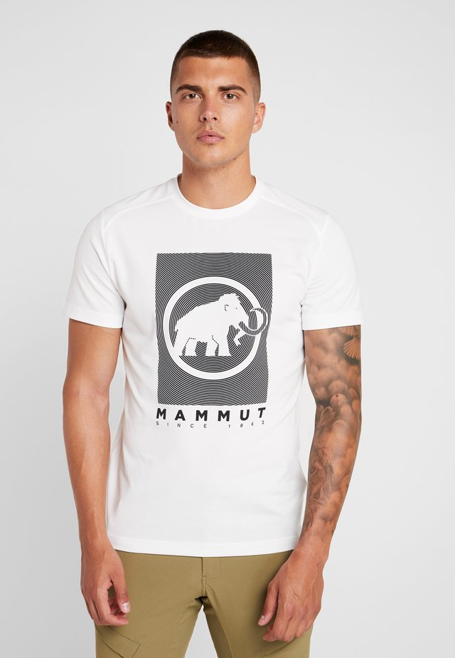 TROVAT - T-shirt med print - bright white
