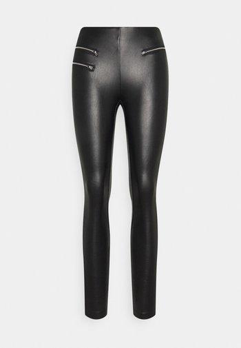 ONLDINA MARIA ZIPPER - Trousers - black