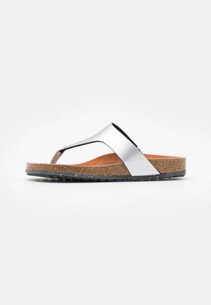 Sandalias de dedo - metallic