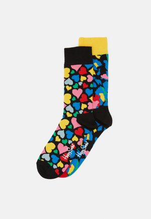 LEOPARD HEART 2 PACK - Socks - medium yellow