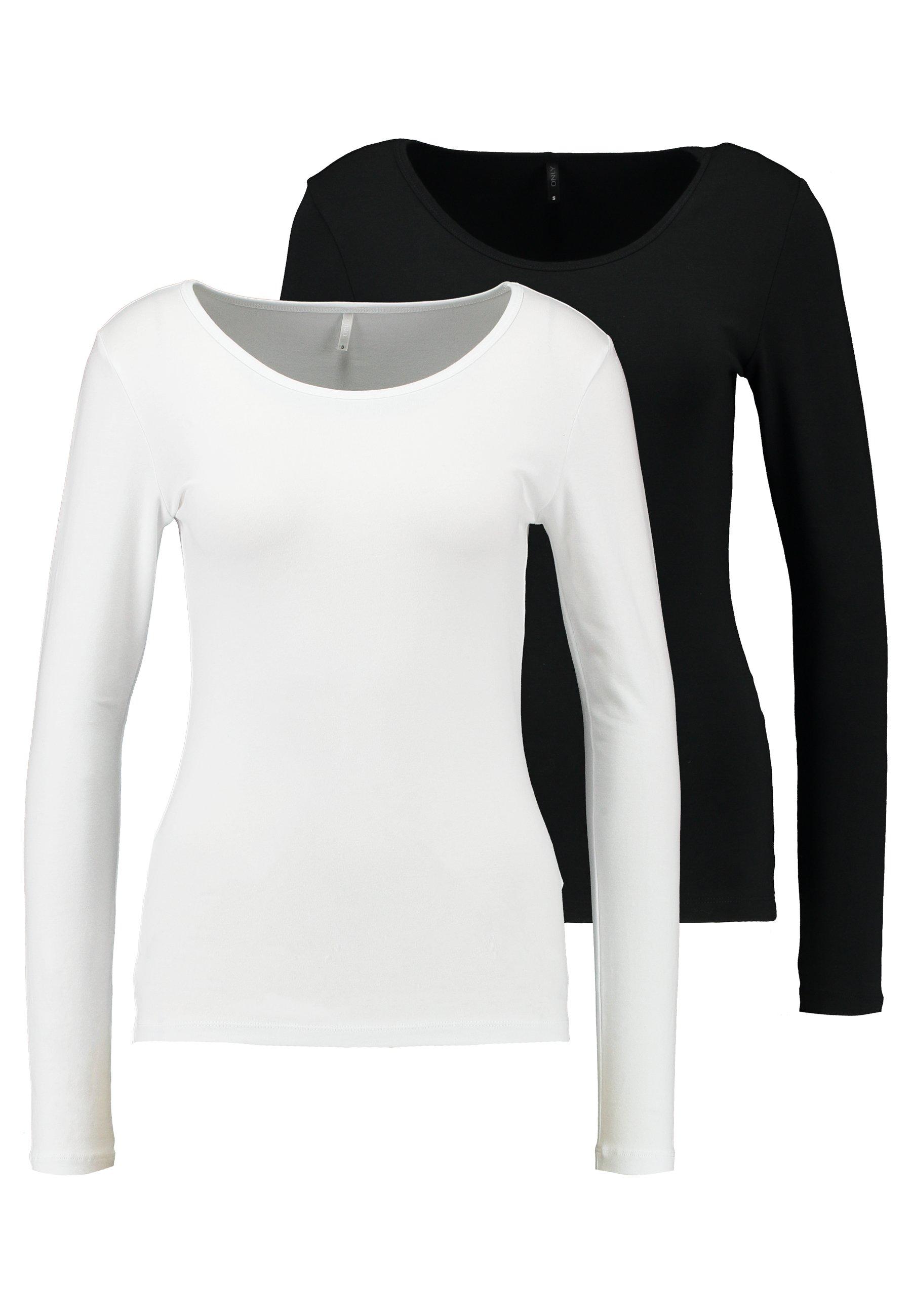 Women ONLLIVE LOVE O-NECK 2PACK - Long sleeved top
