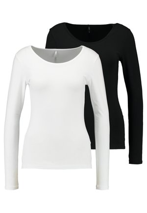 ONLLIVE LOVE O-NECK 2PACK - Top s dlouhým rukávem - black/white
