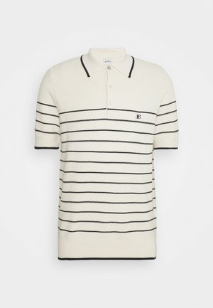 TEXTURED STRIPE - Polo shirt - ivory