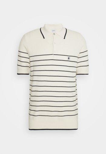 TEXTURED STRIPE - Polo shirt - ivory