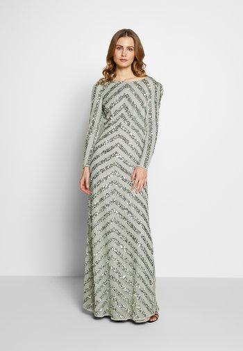 BOAT NECK STRIPE MAXI DRESS - Vestido de fiesta - green