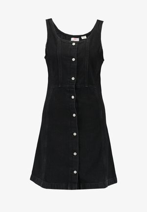 SIENNA DRESS - Denimové šaty - black book