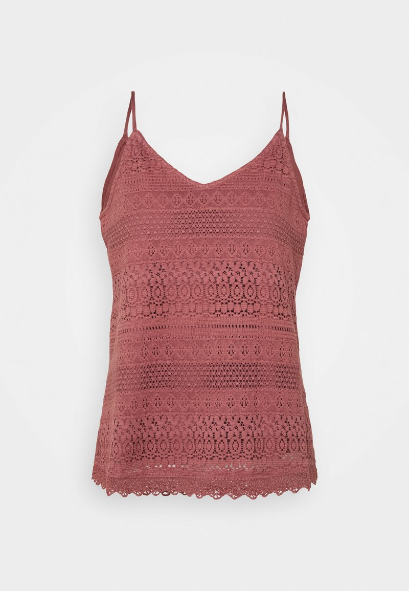 Vero Moda - VMHONEY SINGLET - Top - rose brown