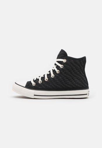 CHUCK TAYLOR ALL STAR TONAL WEAVING UNISEX - Zapatillas altas - black/white