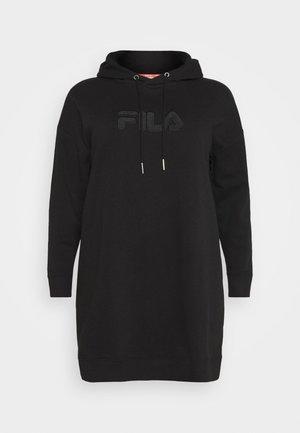 TEOFILA OVERSIZED HOODY DRESS - Freizeitkleid - black