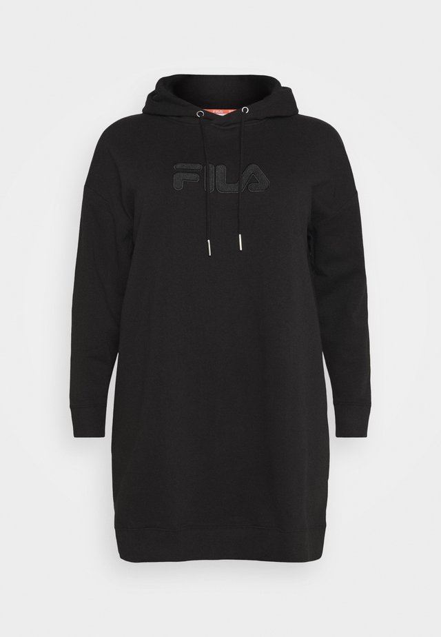 TEOFILA OVERSIZED HOODY DRESS - Denní šaty - black