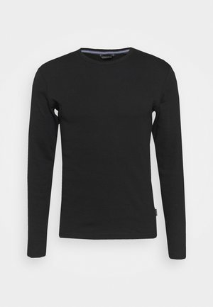 BASIC TEE O-NECK - Top sdlouhým rukávem - black