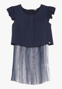3 Pommes - CUTRE DRESS PLEATED BOTTOM - Day dress - blue night - 0
