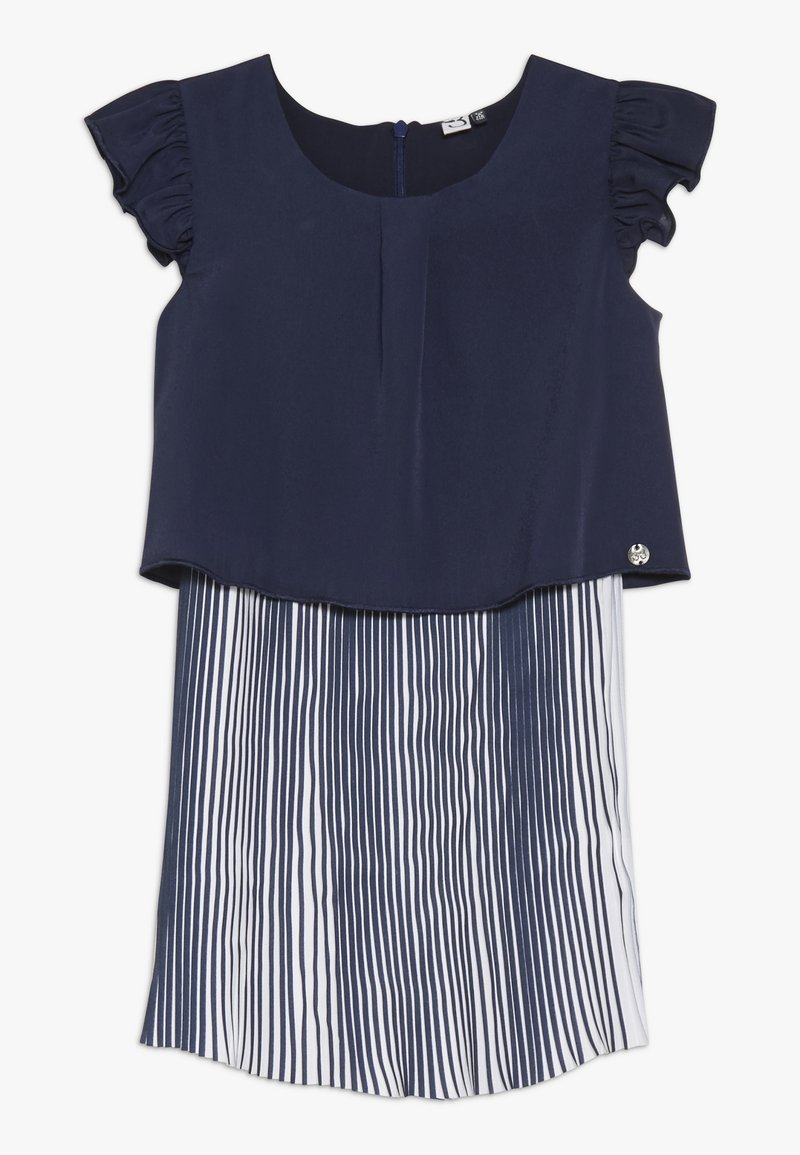 3 Pommes - CUTRE DRESS PLEATED BOTTOM - Day dress - blue night
