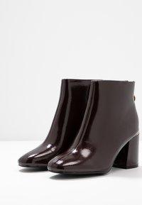 Dorothy Perkins Wide Fit - WIDE FIT AFAR HEEL BACK ZIP - Ankle Boot - oxblood - 4