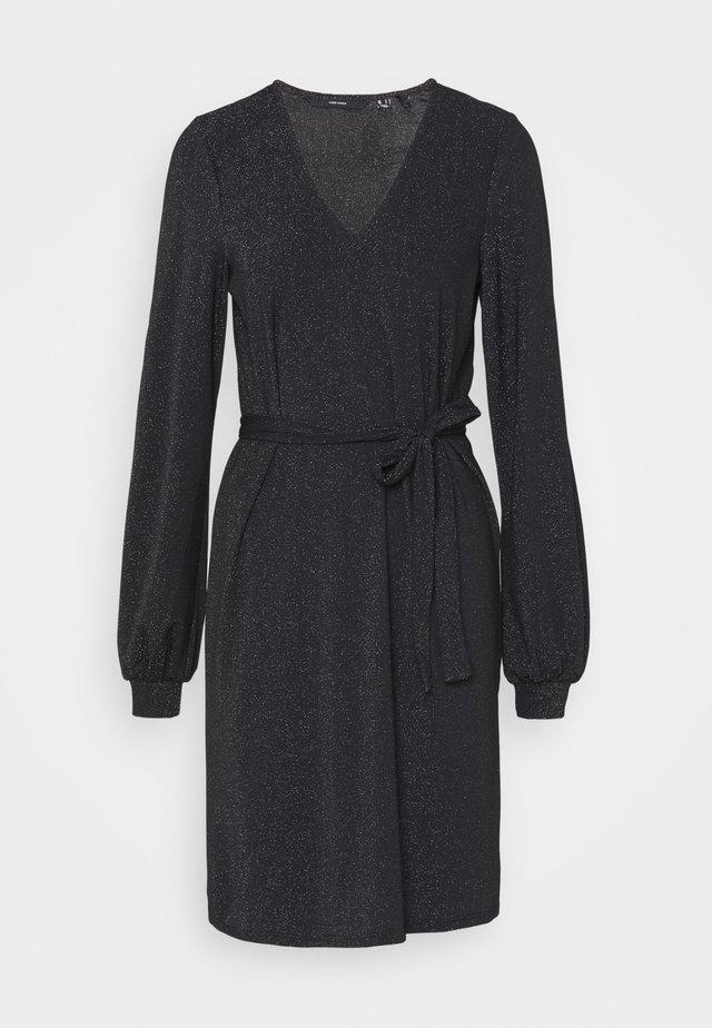 VMJELINA SHORT DRESS - Jerseyjurk - black/silver