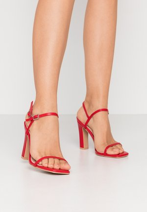 WIDE FIT SILVINA - High heeled sandals - red