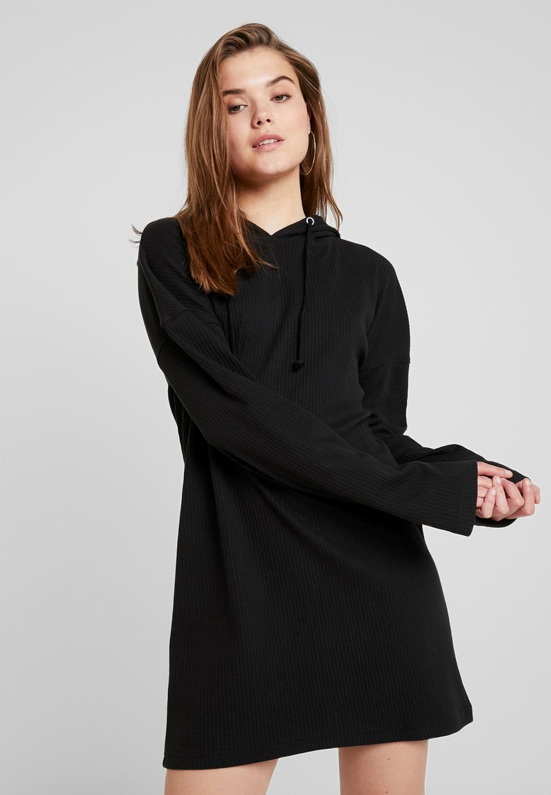 Missguided - HOODIE DRESS - Jersey dress - black