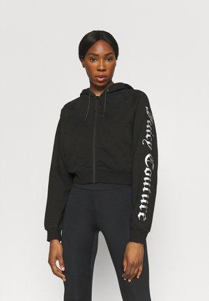 GINA HOODIE - Zip-up sweatshirt - black