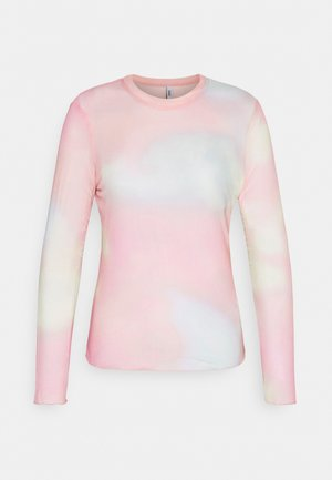ONLJOY TIE DYE - Long sleeved top - cloud dancer