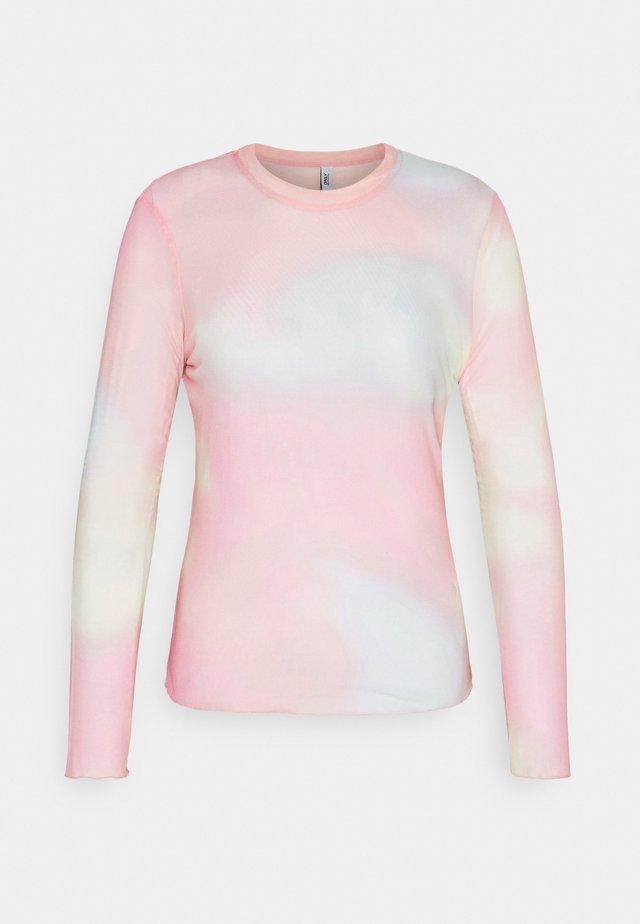 ONLJOY TIE DYE - Langærmede T-shirts - cloud dancer